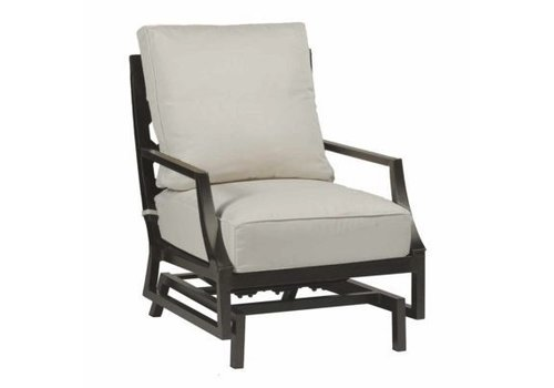 SUMMER CLASSICS LATTICE SPRING LOUNGE CHAIR IN SLATE GRAY