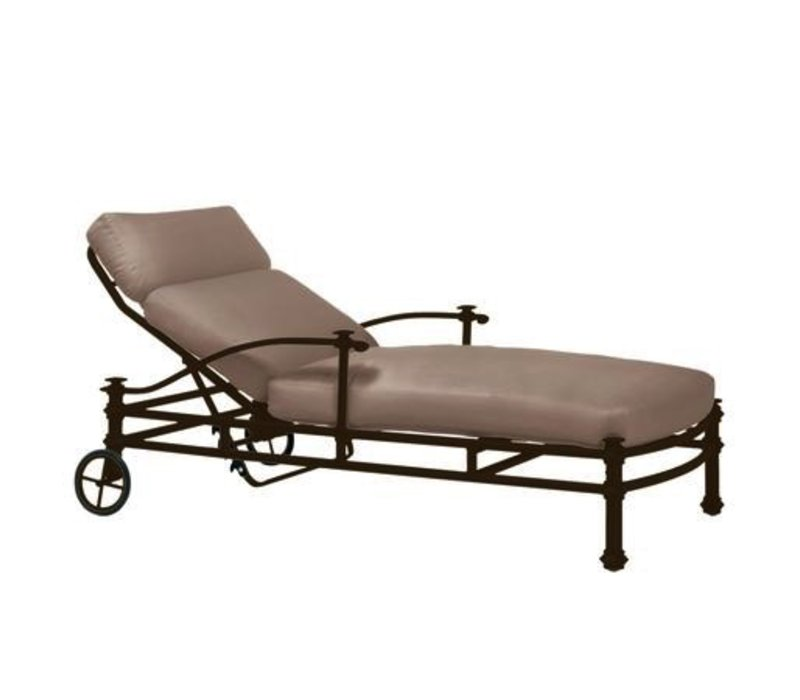 CAMPAIGN GRANDE ADJUSTABLE  CHAISE WITH GRADE A FABRIC