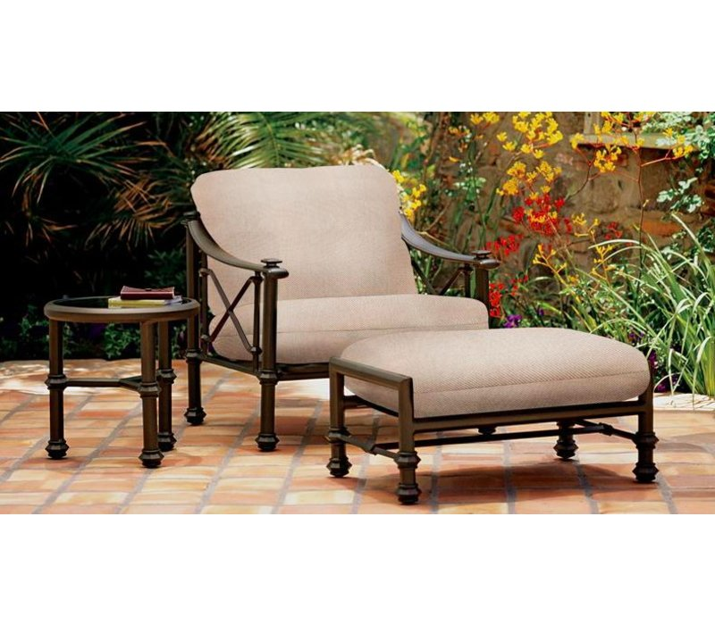 CAMPAIGN GRANDE LOUNGE CHAIR WITH GRADE A FABRIC