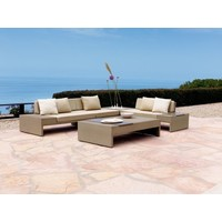 ELEMENTS LEFT ARM FACING SECTIONAL IN MOCA RESINWEAVE GRADE A FABRIC