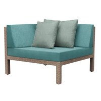 ELEMENTS CORNER SECTIONAL IN MOCA RESINWEAVE / GRADE A FABRIC