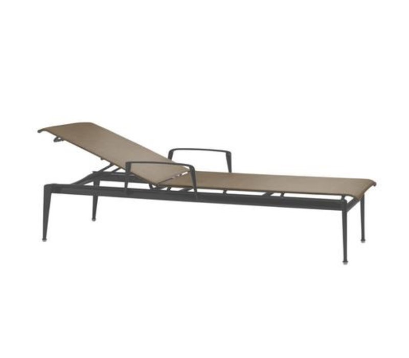 FLIGHT STACKING CHAISE WITH ARMS AND GRADE A SLING