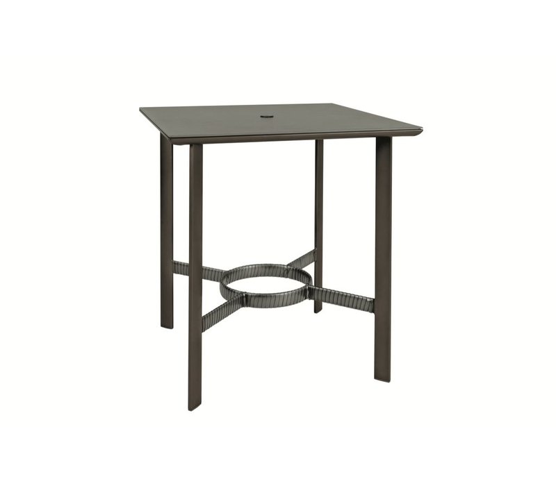 PARKWAY 36 SQUARE BAR TABLE WITH SOLID ALUMINUM TOP