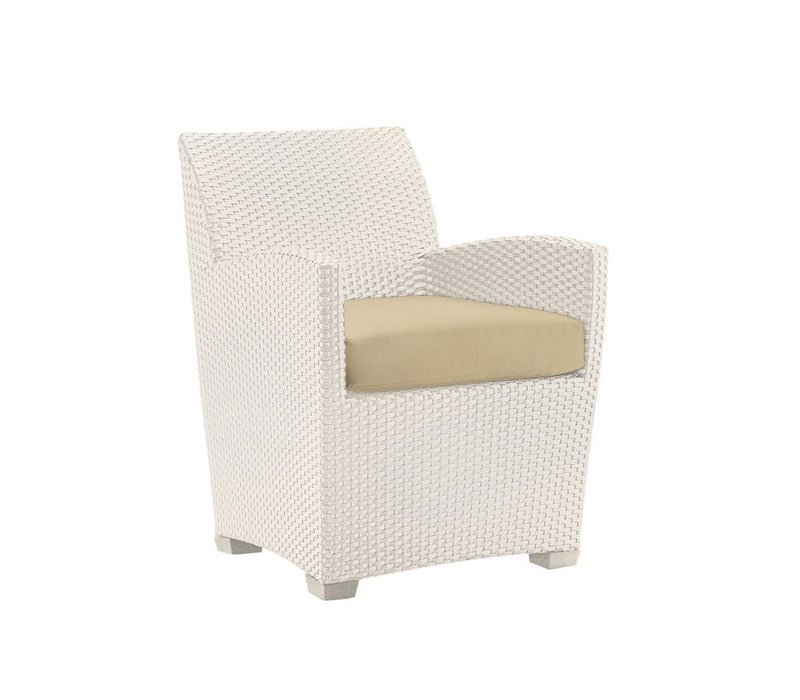 FUSION DINING CHAIR IN PARCHMENT WHITE WITH GRADE A FABRIC