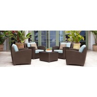 FUSION SECTIONAL CLUB CHAIR IN BRONZE WITH GRADE A FABRIC