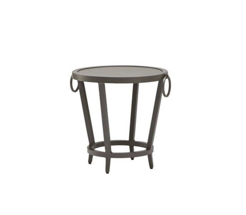 LUNA 20 ROUND OCCASIONAL TABLE WITH SOLID ALUMINUM TOP
