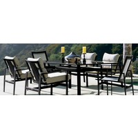 PARKWAY 47 X 81 DINING TABLE WITH GLASS TOP (no umbrella hole)