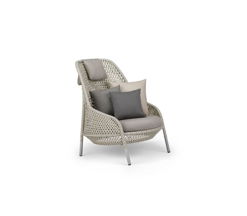 AHNDA WING CHAIR IN WHITE QUARTZ WEAVE
