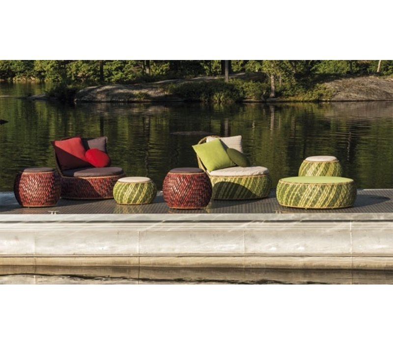 DALA LOUNGE CHAIR IN COLOR FIRE WITH SEAT AND BACK CUSHION