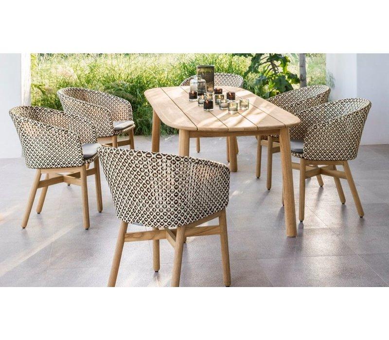 MBRACE 79x36 TEAK DINING TABLE