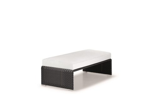 DEDON SLIM LINE FOOTSTOOL IN CARBON