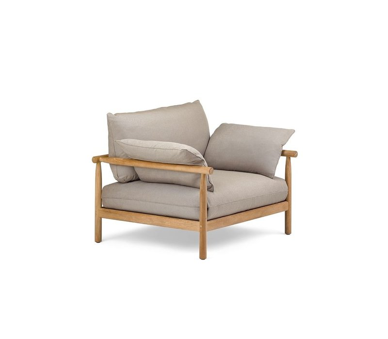TIBBO XL LOUNGE CHAIR WITH VULCANO MATTE WEAVE