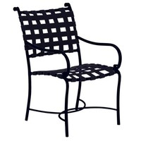 ROMA SUNCLOTH STRAP DINING ARM CHAIR