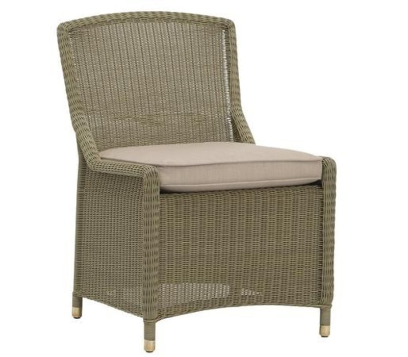 SOUTHAMPTON SIDE CHAIR IN SAGE WITH GRADE A FABRIC