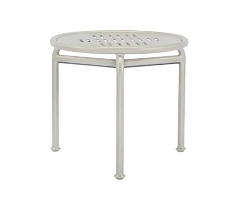 VERGE 20 INCH ROUND OCCASIONAL TABLE WITH PYLON ALUMINUM TOP