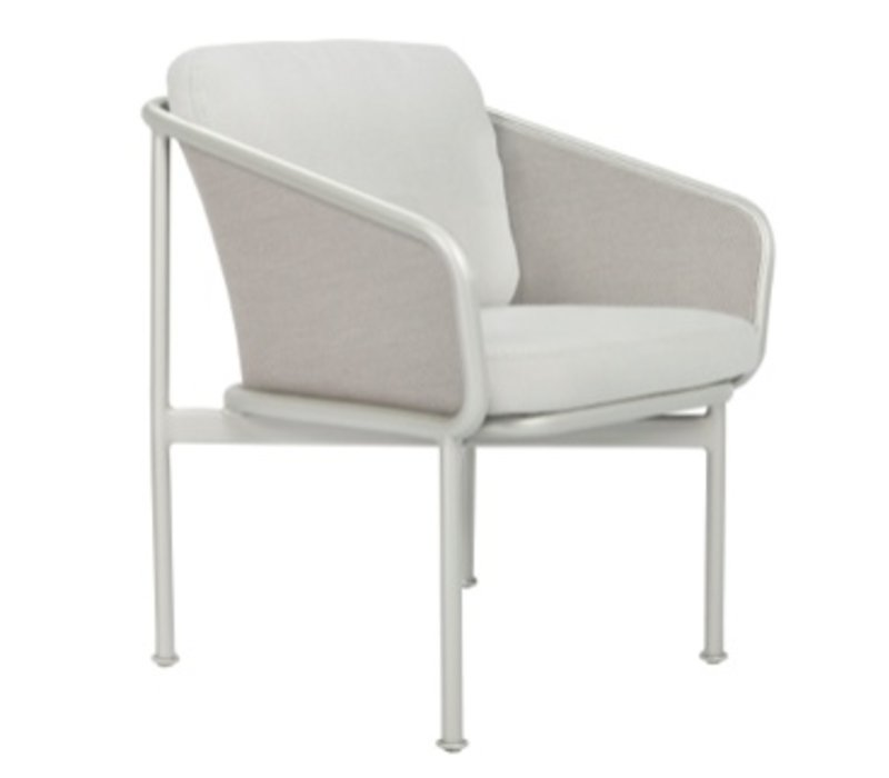 VERGE DINING ARM CHAIR WITH CUSHIONS IN GARDE A FABRIC