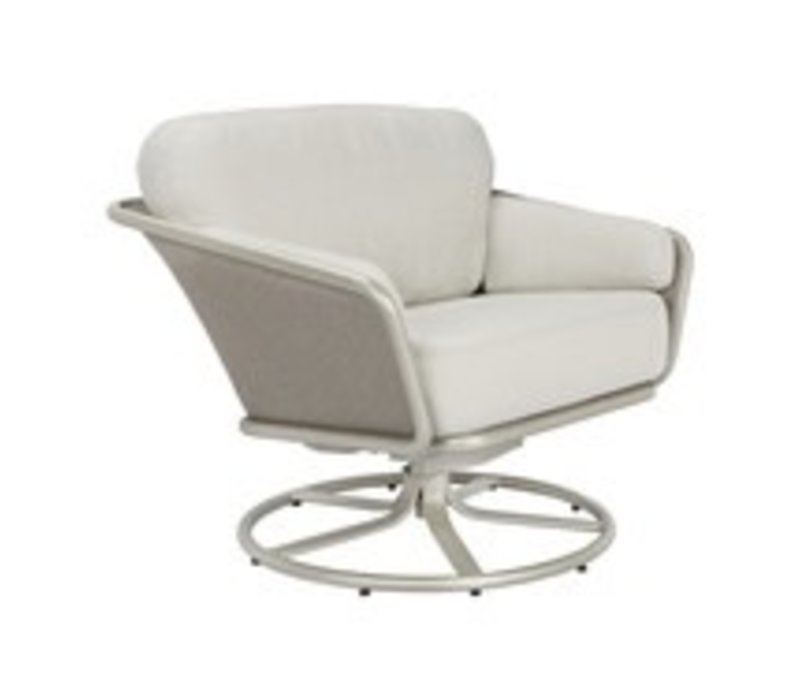VERGE SWIVEL LOUNGE CHAIR WITH CUSHIONS IN GRADE A FABRIC