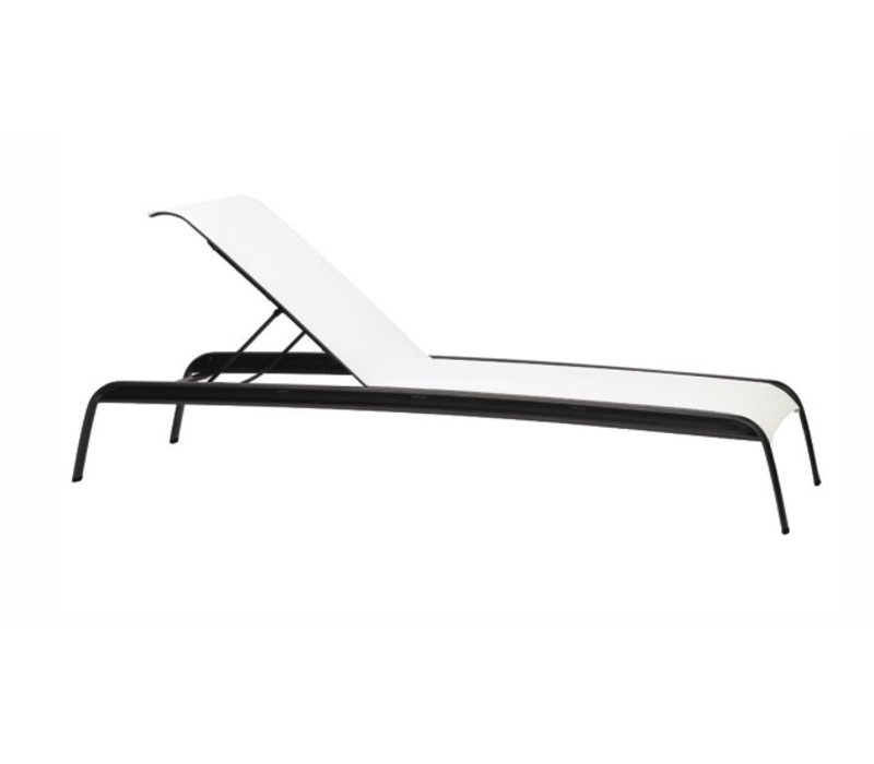 SIROCCO STACKING ADJUSTABLE CHAISE WITH GRADE A SLING