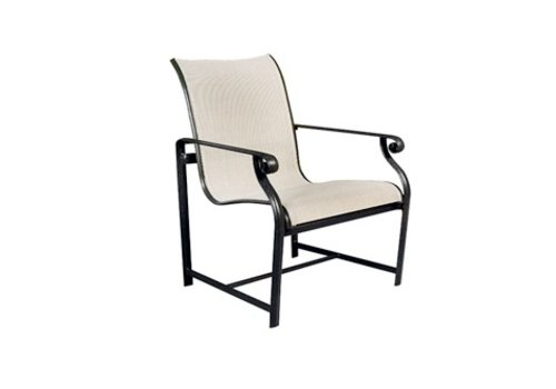BROWN JORDAN AEGEAN SLING ARM CHAIR WITH GRADE A SLING