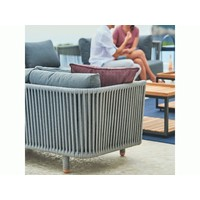 MOMENTS 2-SEATER SOFA MODULE WITH CUSHIONS IN GREY SOFTTOUCH