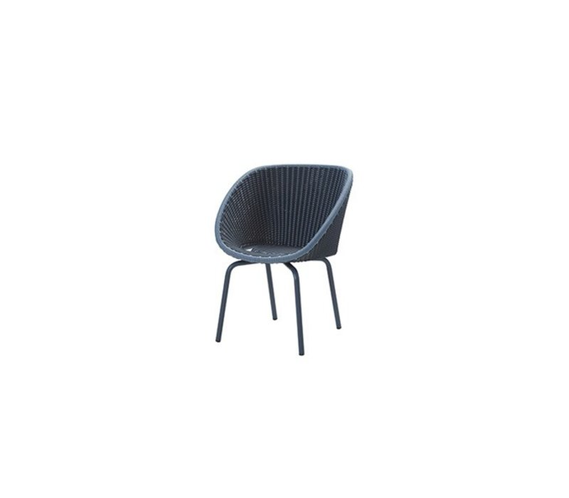 PEACOCK DINING CHAIR IN MIDNIGHT / DUSTY BLUE WEAVE