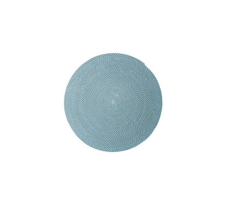 DEFINED 55 INCH OUTDOOR RUG IN TURQUOISE, BEIGE AND GREY