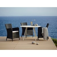 HAMPSTED ARM CHAIR IN BLACK CANE-LINE FIBRE