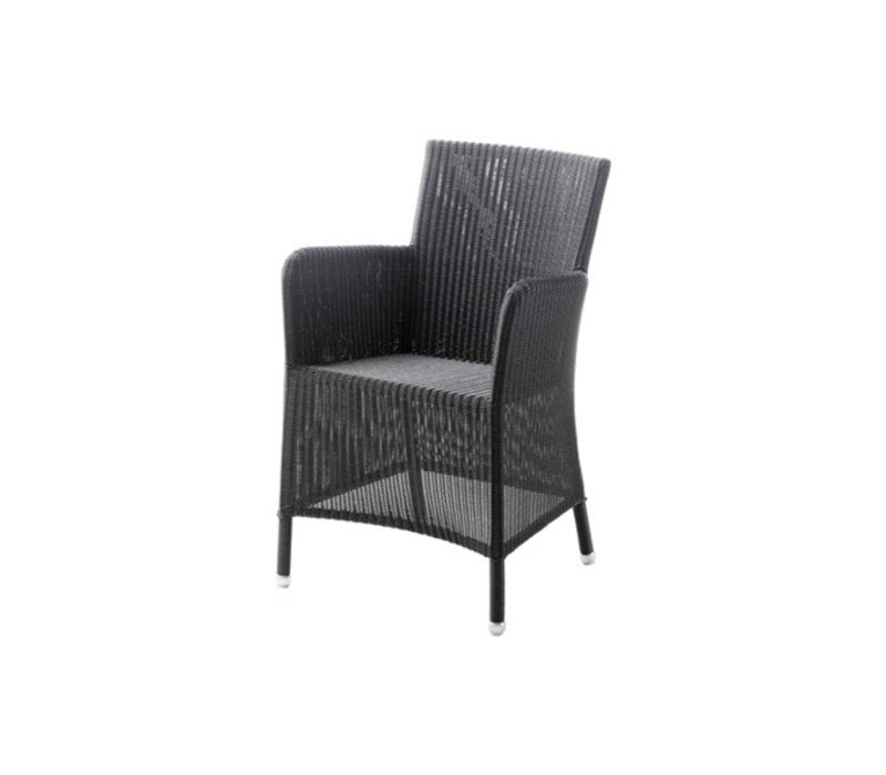 HAMPSTED ARM CHAIR IN GRAPHITE CANE-LINE FIBRE