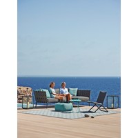 I-AM 10x10 OUTDOOR RUG IN GREY AND TURQUOISE CANE-LINE TEX