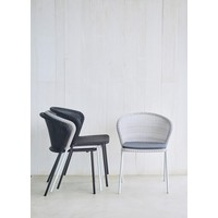 LEAN DINING CHAIR IN BLACK CANE-LINE WEAVE