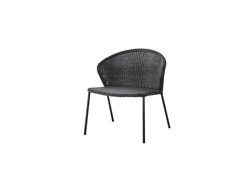 CANE-LINE LEAN LOUNGE CHAIR IN BLACK CANE-LINE WEAVE