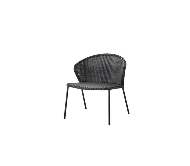LEAN LOUNGE CHAIR IN BLACK CANE-LINE WEAVE