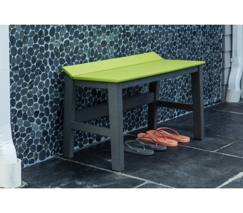 Seaside Casual Sym 28 Inch Dining Bench With White