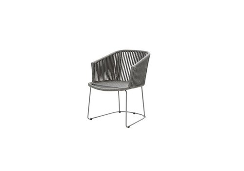 CANE-LINE MOMENTS DINING ARMCHAIR IN GREY CANE-LINE ROPE