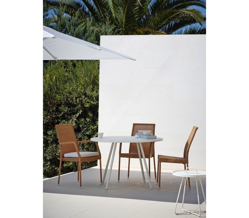 NEWMAN SIDE CHAIR IN NATURAL, CANE-LINE FIBRE