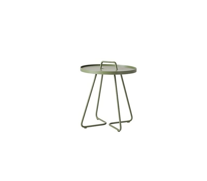 ON-THE-MOVE SIDE TABLE, SMALL IN OLIVE GREEN
