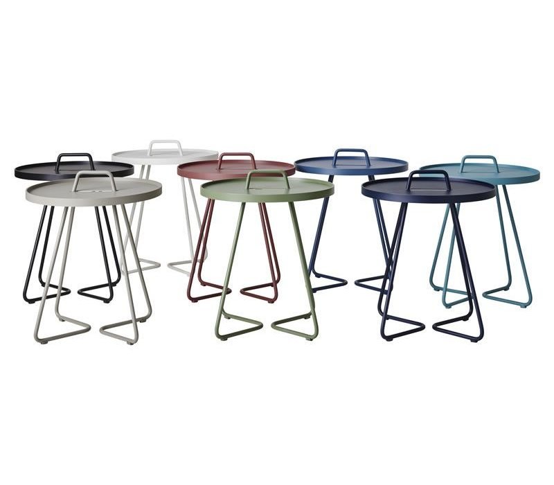 ON-THE-MOVE SIDE TABLE, LARGE IN LIGHT GREY