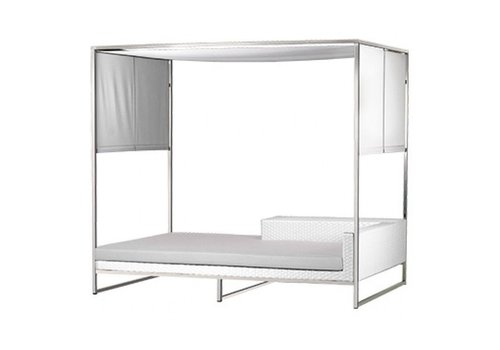 MAMAGREEN JANE DAYBED WITH ALUMINUM FRAME, REHAU OUTDOOR WICKER AND BATYLINE CANOPY