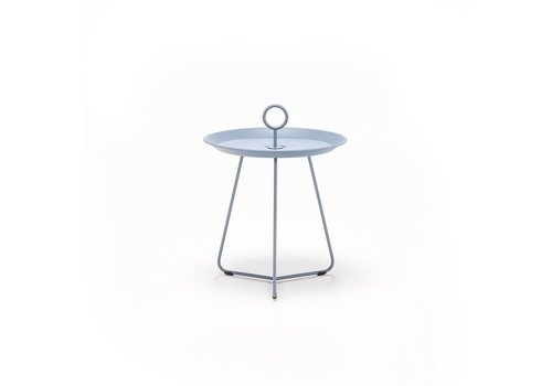 HOUE EYELET 18 INCH TRAY TABLE IN PIGEON BLUE POWDER COATED STEEL