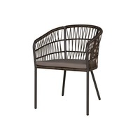 BONO DINING CHAIR WITH SEATPAD, ALUMINUM FRAME, WOVEN SEAT AND BACK
