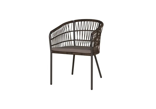 MAMAGREEN BONO DINING CHAIR WITH SEATPAD, ALUMINUM FRAME, WOVEN SEAT AND BACK