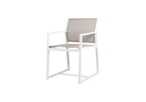 MAMAGREEN ALLUX CARVER DINING CHAIR WITH POWDER COATED ALUMINUM FRAME AND STANDARD BATYLINE