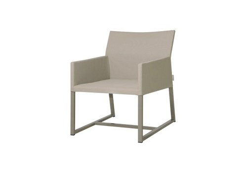 MAMAGREEN MONO CASUAL CHAIR WITH POWDER COATED ALUMINUM FRAME, TWITCHELL LEISURETEX UPHOLSTERY