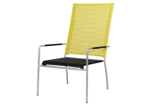 MAMAGREEN NATUN HIGH BACK CHAIR WITH STAINLESS STEEL FRAME AND STANDARD BATYLINE SLING