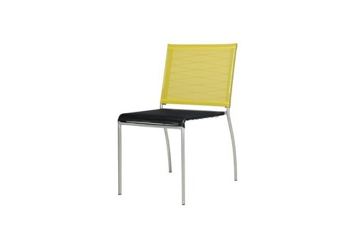 MAMAGREEN NATUN DINING SIDE CHAIR WITH STAINLESS STEEL FRAME AND STANDARD BATYLINE SLING