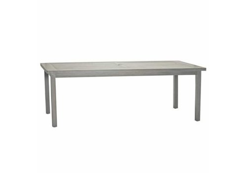 SUMMER CLASSICS CLUB ALUMINUM 86x43 DINING TABLE IN OYSTER FINISH