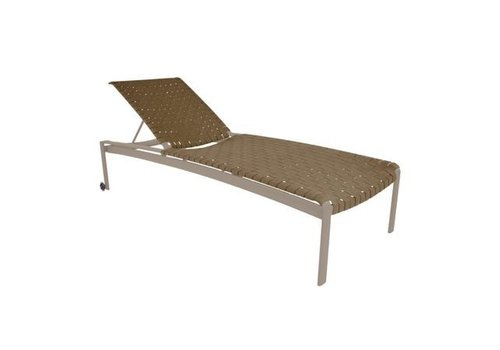 BROWN JORDAN SOFTSCAPE STRAP STACKING ADJUSTABLE CHAISE WITH WHEELS