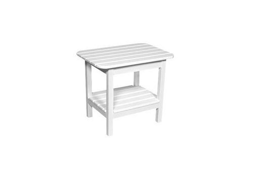 SEASIDE CASUAL WESTERLY END TABLE IN WHITE