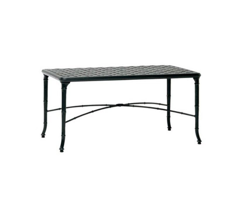 CALCUTTA 24x42 CAST ALUMINUM CORNER TABLE