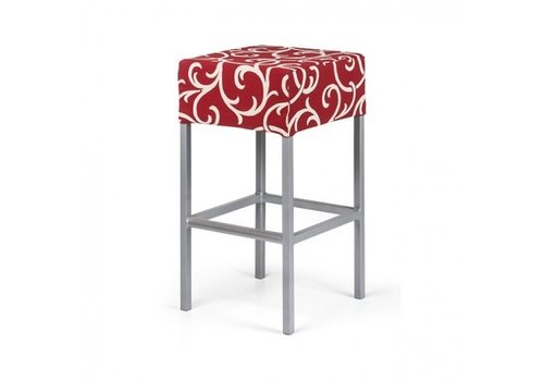 PAVILION SHAPES BAR STOOL, GRADE B FABRIC, STANDARD POWDER COATED FRAME